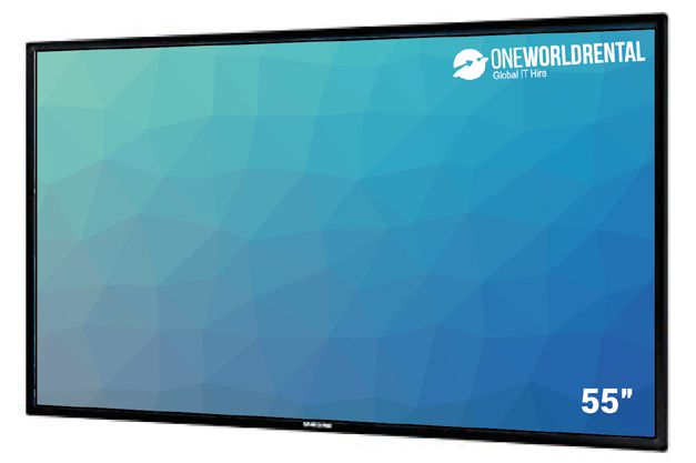 "Rent 55"" touchscreen"
